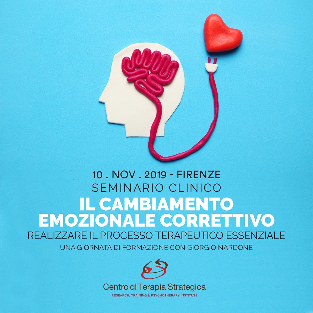 Locandina Seminario clinico: Il cambiamento emozionale correttivo. Realizzare il processo terapeutico essenziale.