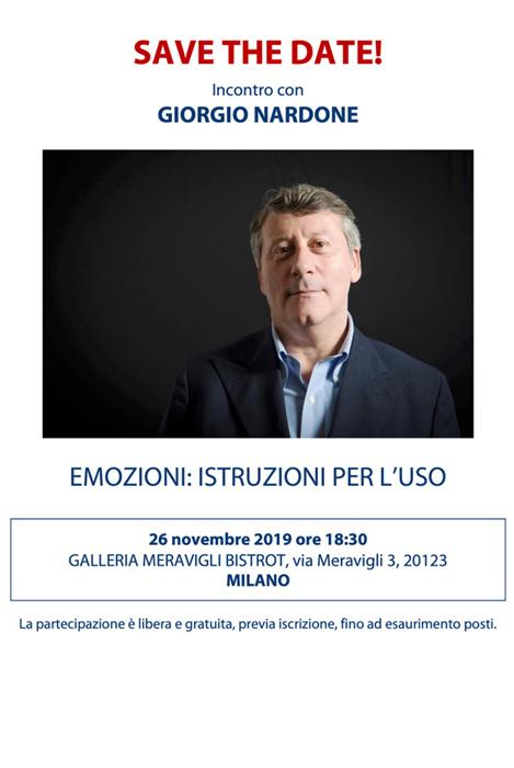Giorgio Nardone evento emozioni istruzioni per l'uso a Milano