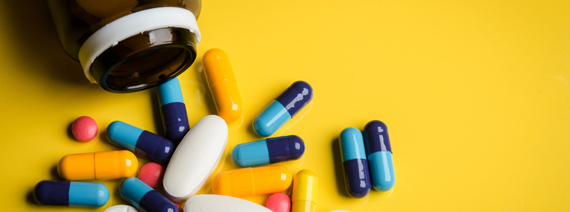 colorful pills and tablets