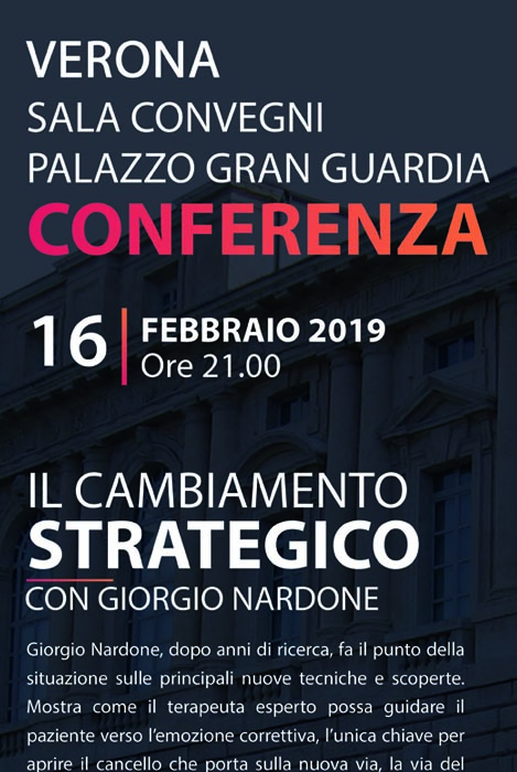 conferenza Giorgio Nardone Verona