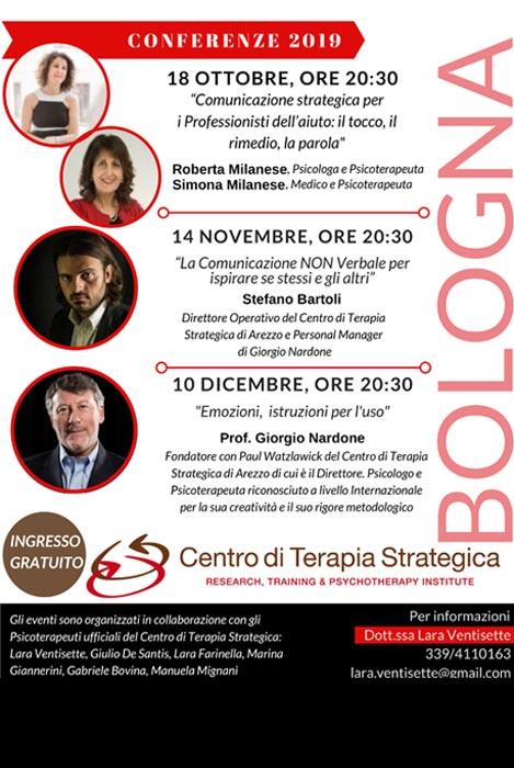 Conferenze Bologna Centro terapia strategica