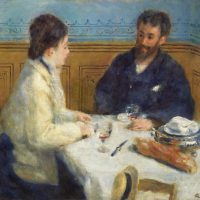 Luncheon (Le Déjeuner) (1875) by Pierre-Auguste Renoir. Original from Barnes Foundation. Digitally enhanced by rawpixel.